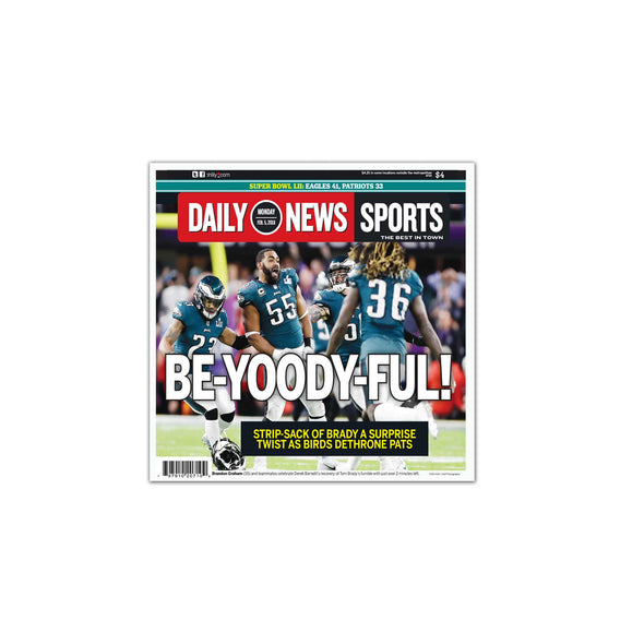 BE-YOODY-FUL! Daily News Sports Page Unframed Print