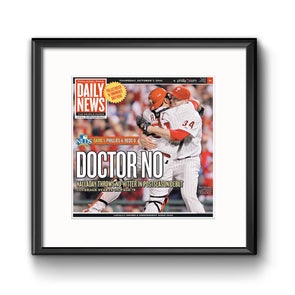 "Daily News Sports Commemorative Page - ""Doctor No"" Framed Print with Mat"