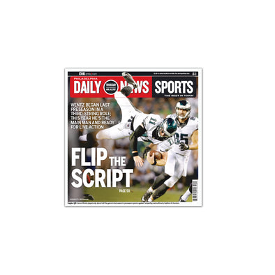 Daily News Sports Commemorative Page - Flip the Script Unframed Print