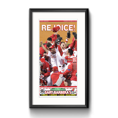 Daily News Sports Commemorative Keepsake Page - Rejoice Framed with Mat