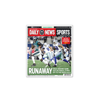 "Daily News Sports Commemorative Page - ""Runaway"" Unframed Print"