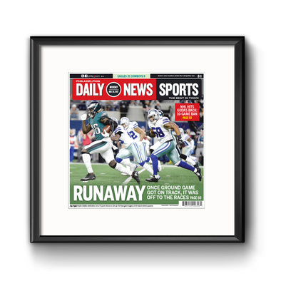 Daily News Sports Commemorative Page - Runaway Framed Print with Mat