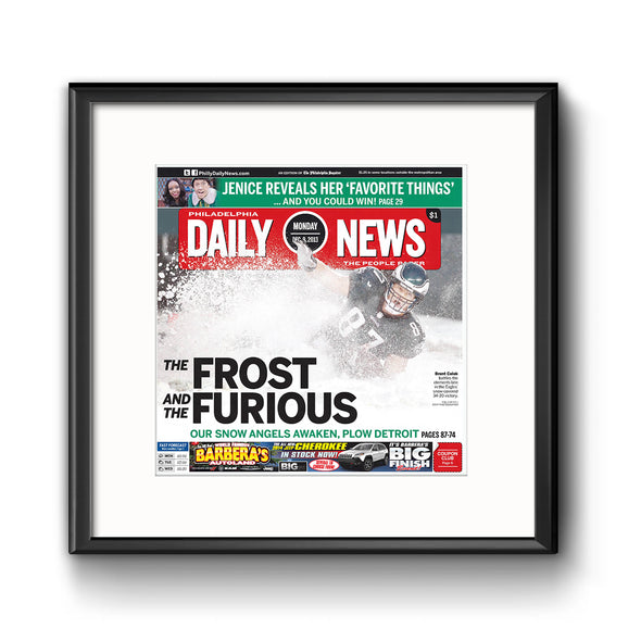 Daily News Sports Commemorative Page - Snow Bowl Game Framed Print with Mat