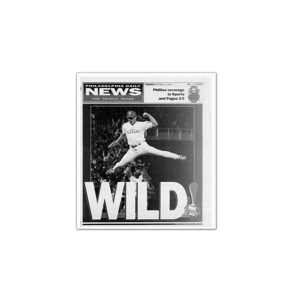 "Daily News Sports Commemorative Page - ""Wild"" Phillies, Unframed Print"