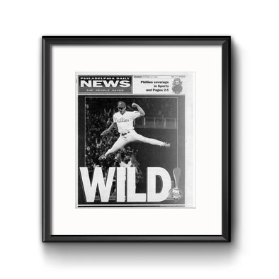 Daily News Sports Commemorative Page - Wild Framed Print with Mat