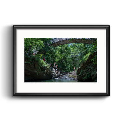 Devil's Pool, Wissahickon Creek Framed Print with Mat