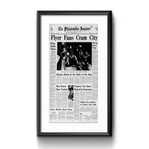 "Inquirer Sports Commemorative Page - ""Fans Cram City"", Framed with Mat"