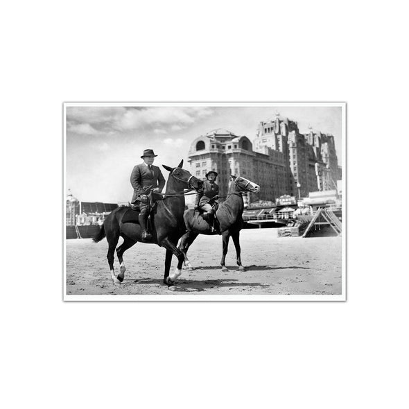 Atlantic City on Horseback, Unframed Print