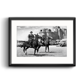 Atlantic City on Horseback, 1939 Framed Print with Mat