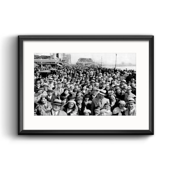 Easter on the Boardwalk Framed Print with Mat