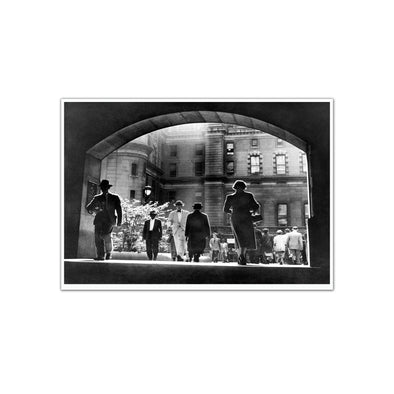 City Hall Courtyard, 1952 Unframed Print