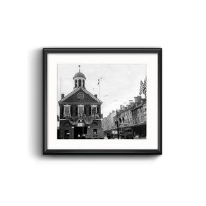 Second Street Markethouse, Framed Print with Mat