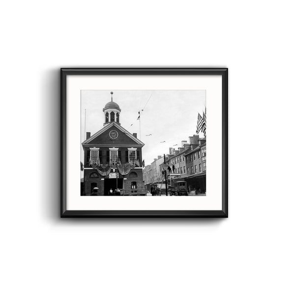 Second Street Markethouse Framed Print with Mat