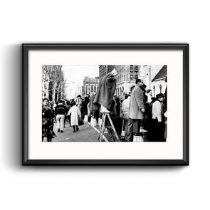 Mummers Parade, 1961 Framed Print with Mat