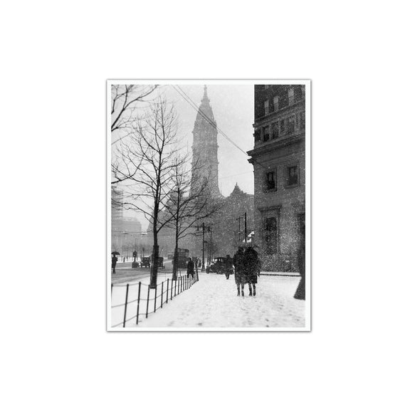 City Hall, Winter 1927 Unframed Print