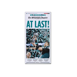 """At Last!"" Inquirer Philadelphia Eagles Super Bowl Reprint - Canvas"
