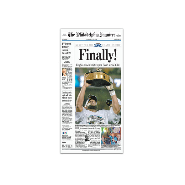 Inquirer Sports Commemorative Page - 2005 Win Unframed Print