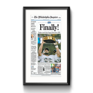 Inquirer Sports Commemorative Page - 2005 Win Framed with Matte