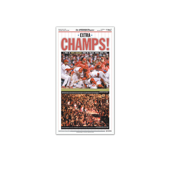 Inquirer Sports Commemorative Page - 2008 World Series Champs Unframed Print