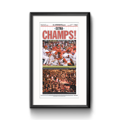 Inquirer Sports Commemorative Page - 2008 World Series Champs Framed Print with Mat