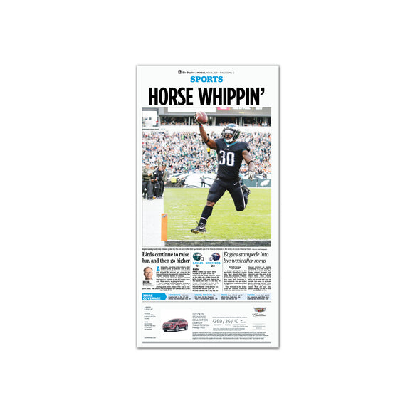 "Inquirer Sports Commemorative Page - Sports ""Horse Whippin'"" Unframed Print"