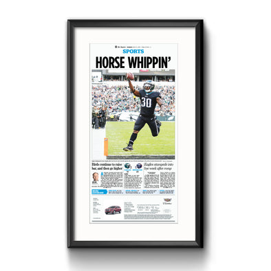 Inquirer Sports Commemorative Page - Sports Whippin' Framed Print with Mat