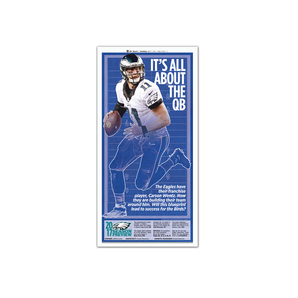 Inquirer Sports Commemorative Page - It's all about the quarterback Unframed Print