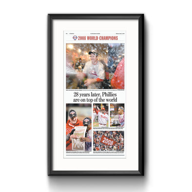 Inquirer Sports Commemorative Page - On top of the world framed print with mat