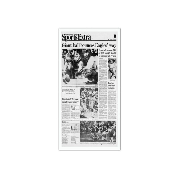 Inquirer Sports Commemorative Page - 1988 Sports Extra Unframed Print