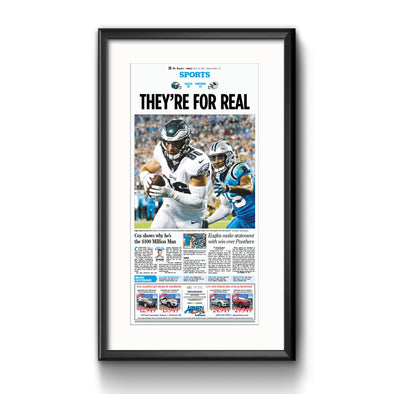 Inquirer Sports Commemorative Page - They're For Real Framed Print with Mat