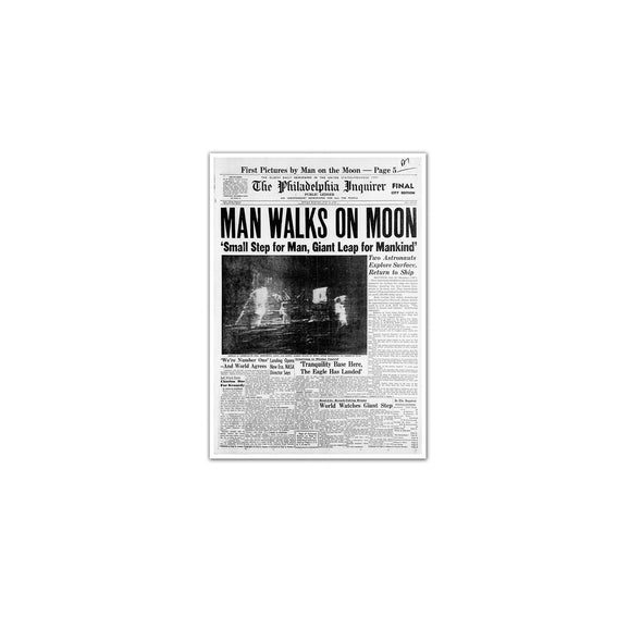 Man Walks on Moon Unframed Print