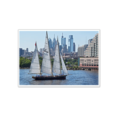 "Philadelphia Skyline Delaware River ""Parade of Sails 2018"" Unframed Print"