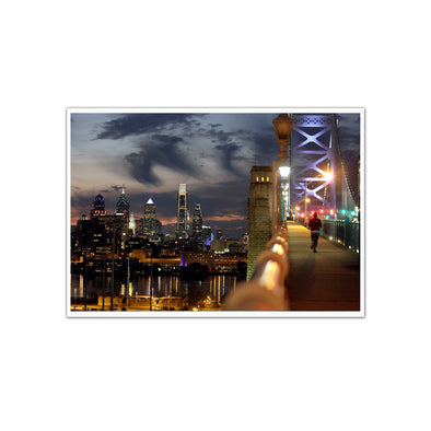 """Philadelphia Skyline at Dusk"" Unframed Print"