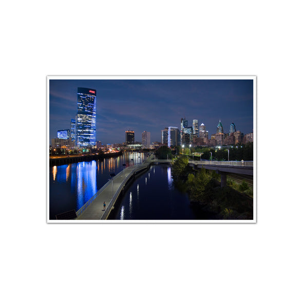 """Philadelphia Skyline at Night"" Photo Print - Unframed"