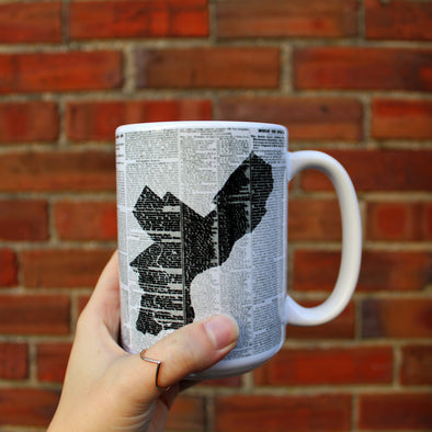 Philadelphia Map Large Mug