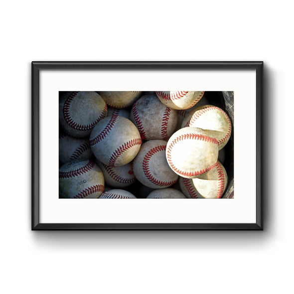 Collection of Baseballs, Framed Print with Mat by Tom Gralish
