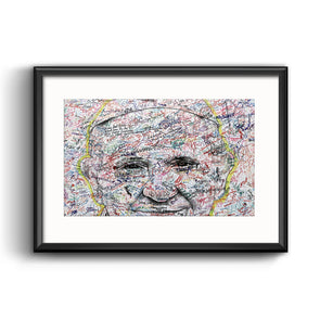 Pope Francis in Philadelphia Illustration Framed Print with Mat