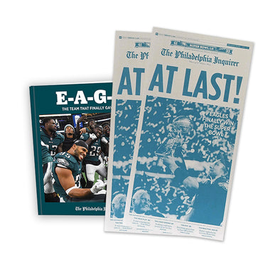 at last press plate eagles book bundle gift the philadelphia inquirer