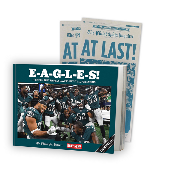 eagles book at last press plate bundle gift the philadelphia inquirer