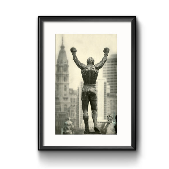 """The Rocky Statue"", Framed Print with Mat"