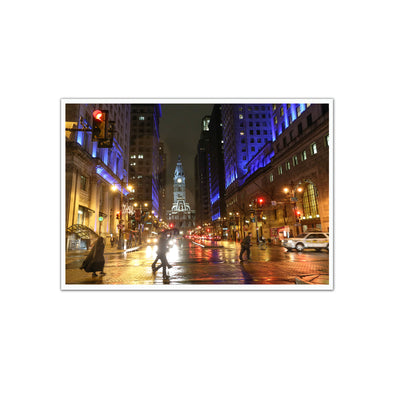 """Season of Light"" on South Broad Street, Unframed Print"