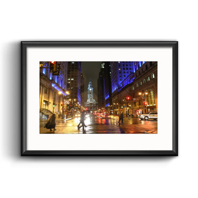 Season of Light, South Broad Street Framed Print with Mat