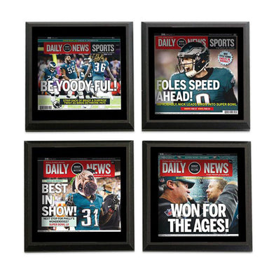 """Be-Yoody-Ful"" Wooden Coasters Philadelphia Eagles Daily News"
