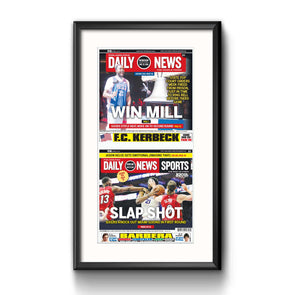 """Slap Shot"" 76ers, Framed with Mat"