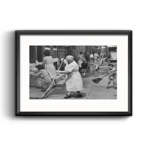 """South Philadelphia, 1949"" Framed with Mat"