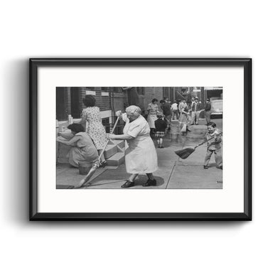 South Philadelphia, 1949 Framed with Mat