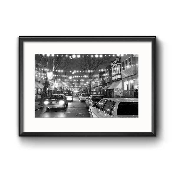 """South Philly Lights"", Framed Print with Mat"
