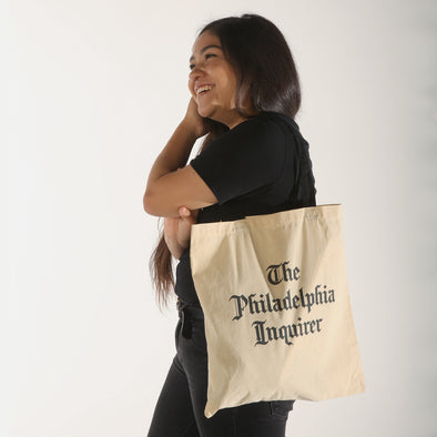 stacked masthead tote bag black/natural model