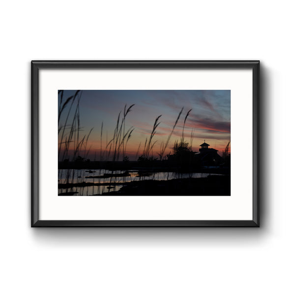 """Stone Harbor Wetlands"", Framed Print with Mat"