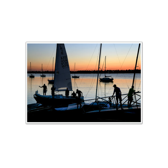 """Sunset Sail"", Unframed Print"